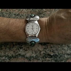 Pulsar Date Quartz Watch with Navajo SS Tip Band